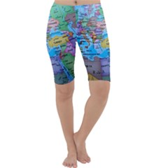 Globe World Map Maps Europe Cropped Leggings