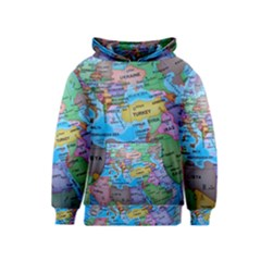 Globe World Map Maps Europe Kids  Pullover Hoodie