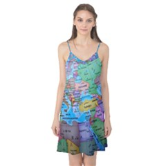 Globe World Map Maps Europe Camis Nightgown