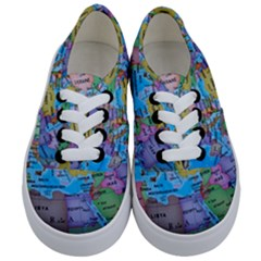 Globe World Map Maps Europe Kids  Classic Low Top Sneakers