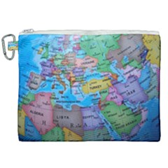 Globe World Map Maps Europe Canvas Cosmetic Bag (xxl)