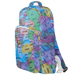 Globe World Map Maps Europe Double Compartment Backpack by Samandel
