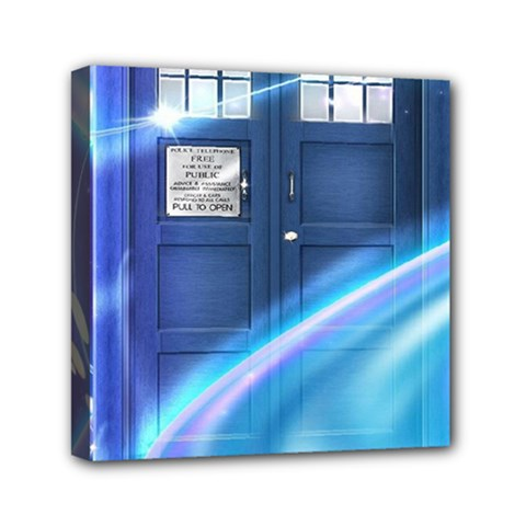 Tardis Space Mini Canvas 6  X 6  (stretched)