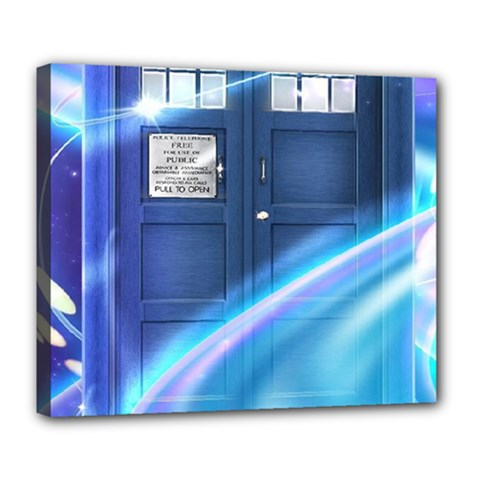 Tardis Space Deluxe Canvas 24  X 20  (stretched)
