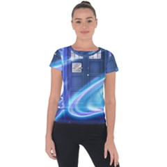 Tardis Space Short Sleeve Sports Top