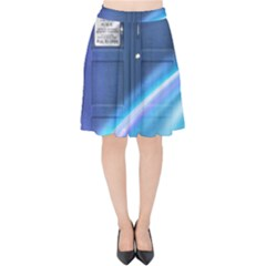 Tardis Space Velvet High Waist Skirt