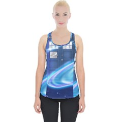 Tardis Space Piece Up Tank Top