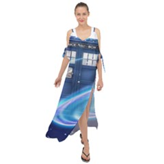 Tardis Space Maxi Chiffon Cover Up Dress