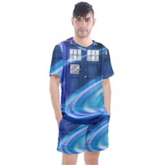 Tardis Space Men s Mesh Tee And Shorts Set