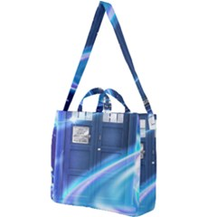 Tardis Space Square Shoulder Tote Bag