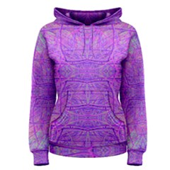 Hot Pink And Purple Abstract Branch Pattern Women s Pullover Hoodie by myrubiogarden