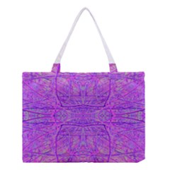 Hot Pink And Purple Abstract Branch Pattern Medium Tote Bag by myrubiogarden