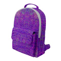 Hot Pink And Purple Abstract Branch Pattern Flap Pocket Backpack (large) by myrubiogarden