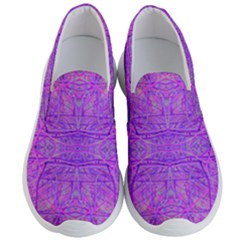 Hot Pink And Purple Abstract Branch Pattern Men s Lightweight Slip Ons by myrubiogarden