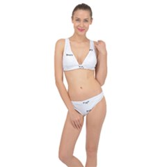 Full Frame Shot Of Abstract Pattern Classic Banded Bikini Set