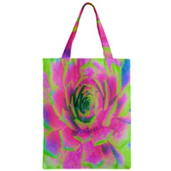 Lime Green And Pink Succulent Sedum Rosette Classic Tote Bag by myrubiogarden