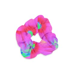 Psychedelic Pink And Red Hibiscus Flower Velvet Scrunchie