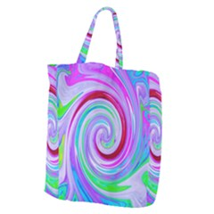 Groovy Abstract Red Swirl On Purple And Pink Giant Grocery Tote by myrubiogarden