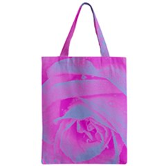Perfect Hot Pink And Light Blue Rose Detail Classic Tote Bag by myrubiogarden