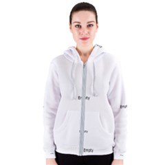 Birch Tree Background Snow Landscape Women s Zipper Hoodie