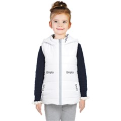 Blue Squares  Kid s Hooded Puffer Vest