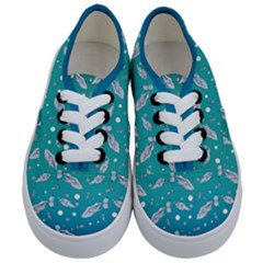 Under The Sea Paisley Pattern Kids  Classic Low Top Sneakers