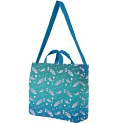 Under The Pea Paisley Pattern Square Shoulder Tote Bag