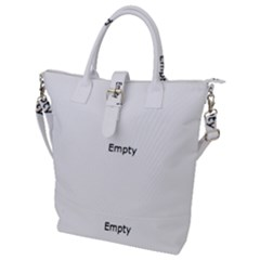 Construction High Technology Buckle Top Tote Bag by Sapixe