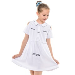 Abstract Pink Squares Kids  Short Sleeve Shirt Dress