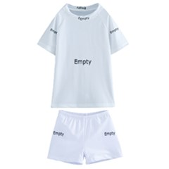 Futuristic Gaphic Art   Kids  Swim Tee And Shorts Set by Sapixe