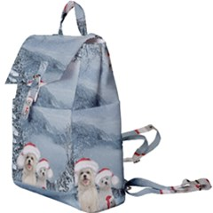 Christmas, Cute Dogs And Squirrel With Christmas Hat Buckle Everyday Backpack by FantasyWorld7