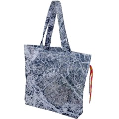 Marble Pattern Drawstring Tote Bag