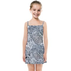 Marble Pattern Kids Summer Sun Dress