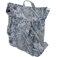 Marble Pattern Buckle Up Backpack