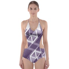 Geometry Triangle Abstract Cut Out One Piece Swimsuit