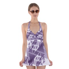 Geometry Triangle Abstract Halter Dress Swimsuit