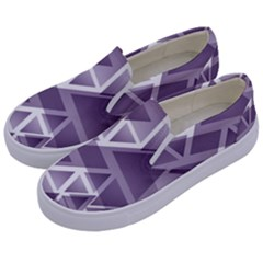 Geometry Triangle Abstract Kids  Canvas Slip Ons by Alisyart
