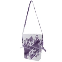 Geometry Triangle Abstract Folding Shoulder Bag