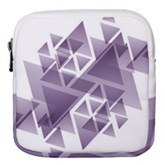 Geometry Triangle Abstract Mini Square Pouch