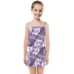Geometry Triangle Abstract Kids Summer Sun Dress