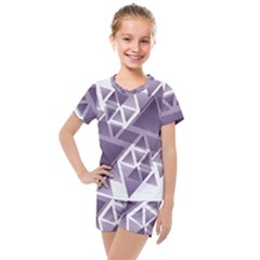 Geometry Triangle Abstract Kids  Mesh Tee And Shorts Set by Alisyart
