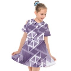 Geometry Triangle Abstract Kids  Short Sleeve Shirt Dress
