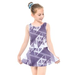 Geometry Triangle Abstract Kids  Skater Dress Swimsuit