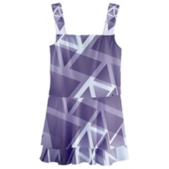 Geometry Triangle Abstract Kids  Layered Skirt Swimsuit