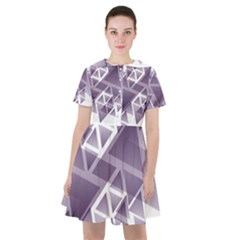 Geometry Triangle Abstract Sailor Dress by Alisyart