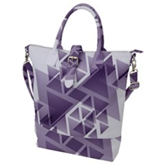 Geometry Triangle Abstract Buckle Top Tote Bag