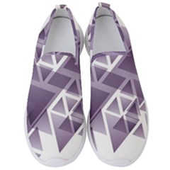 Geometry Triangle Abstract Men s Slip On Sneakers