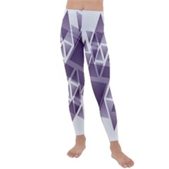 Geometry Triangle Abstract Kids  Lightweight Velour Leggings