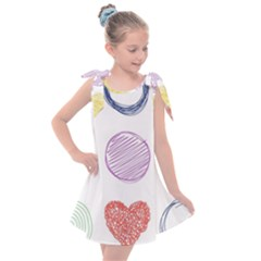 Geometry Euclidean Vector Kids  Tie Up Tunic Dress