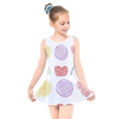 Geometry Euclidean Vector Kids  Skater Dress Swimsuit